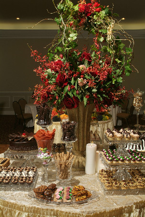 Presentaion table for catered event