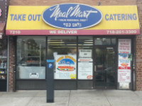 Store front of Meal Mart on Main Street is located at 72-10 Mainstreet